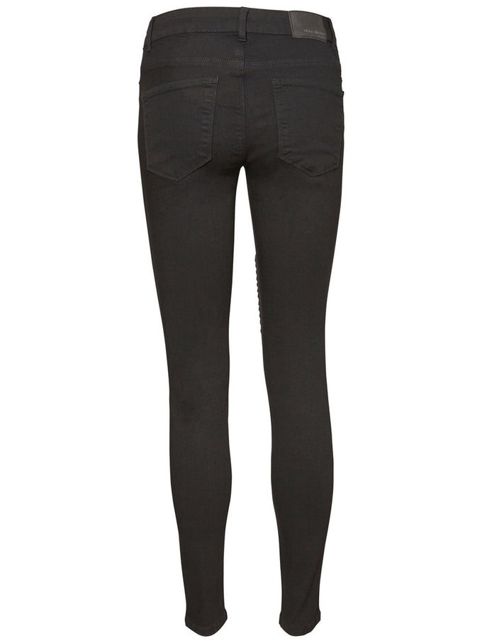 VMSEVEN SLIM FIT BIKER JEANS BLACK