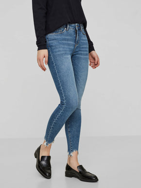 VMSEVEN SLIM FIT RAW ANKLE JEANS