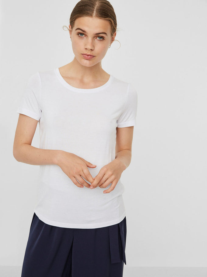 VMJOY COTTON T-SHIRT SNOW WHITE