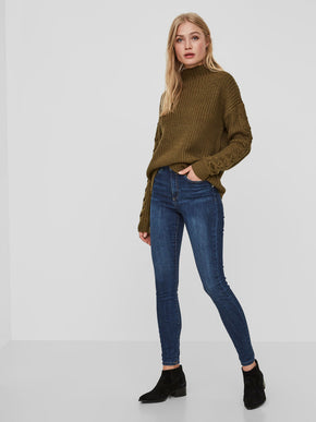 VMSOPHIA BLUE HIGH WAIST SKINNY FIT JEANS