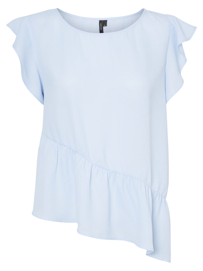 ASYMMETRIC BLOUSE BLUE