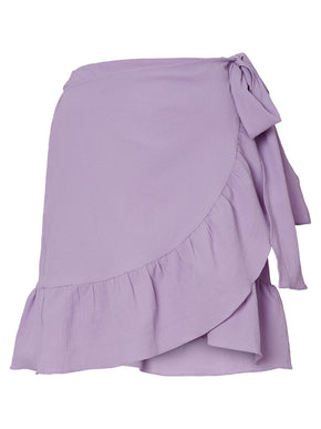 WRAP SKIRT WITH RUFFLES