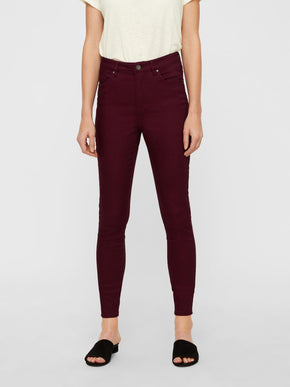 VMHOT HIGH WAIST SKINNY FIT PANTS