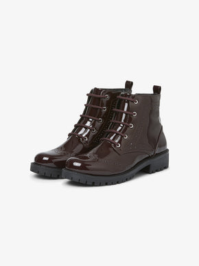 PATENT MILITARY BOOTS