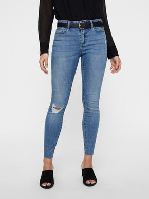 VMSEVEN SLIM FIT JEANS WITH RAW DETAILS