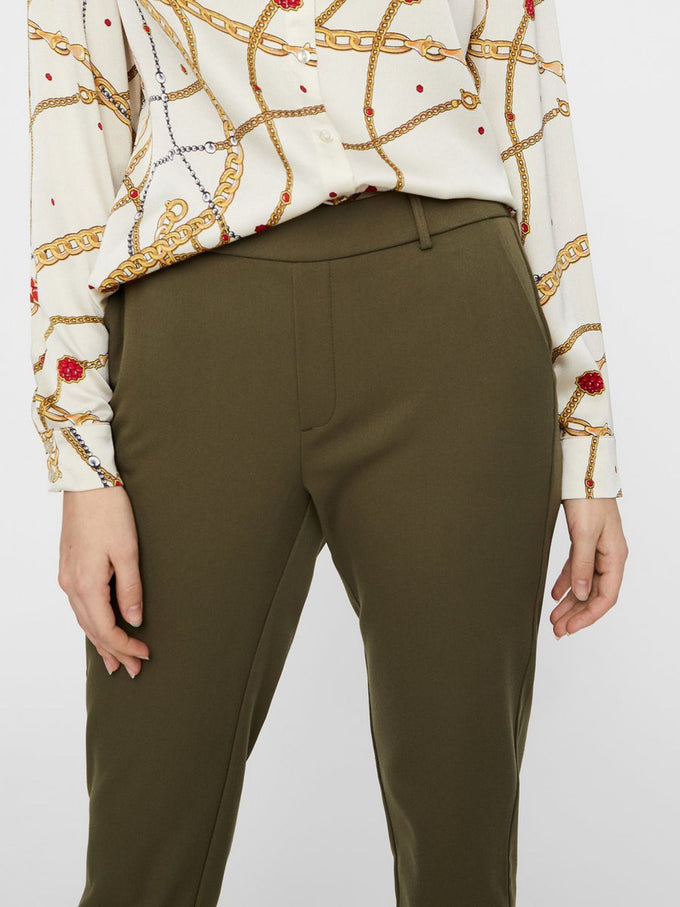 LOOSE FIT JERSEY PANTS IVY GREEN