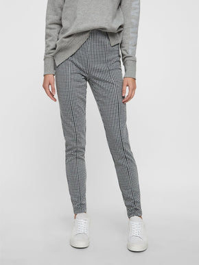 RECYCLED-POLYESTER HOUNDSTOOTH LEGGINGS