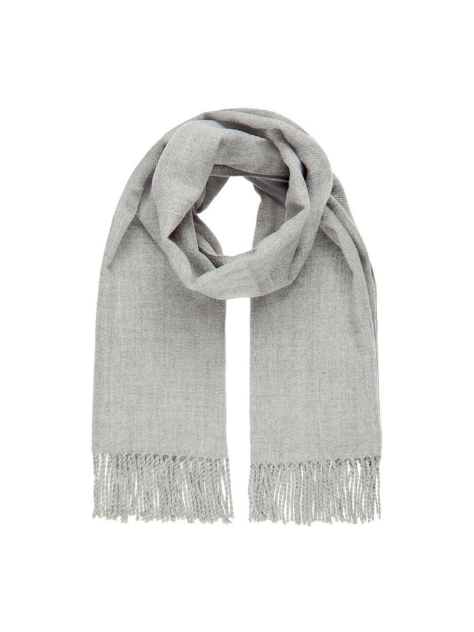 LARGE SOLID SCARF LIGHT GREY MELANGE