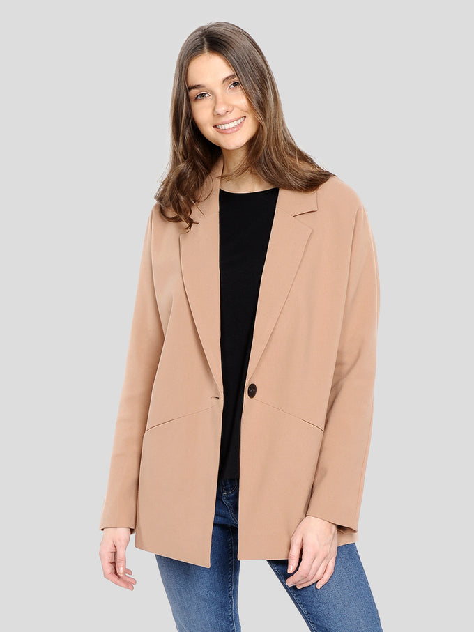OVERSIZED LIGHT JACKET CAFÉ AU LAIT
