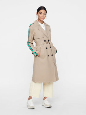 TRENCH COAT WITH COLOURFUL STRIPE