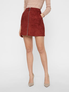 FAUX-SUEDE SKIRT