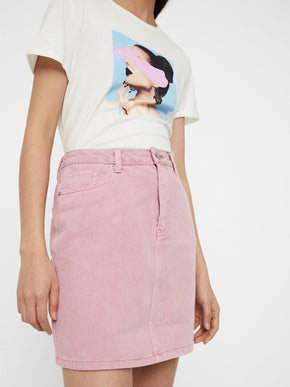 COLOURFUL DENIM SKIRT