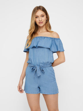 OFF-THE-SHOULDER LYOCELL ROMPER