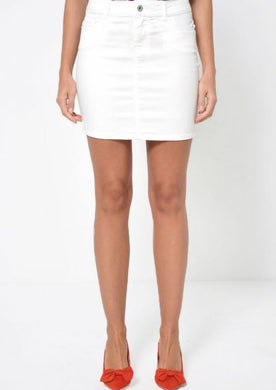 VMSEVEN WHITE MINI SKIRT