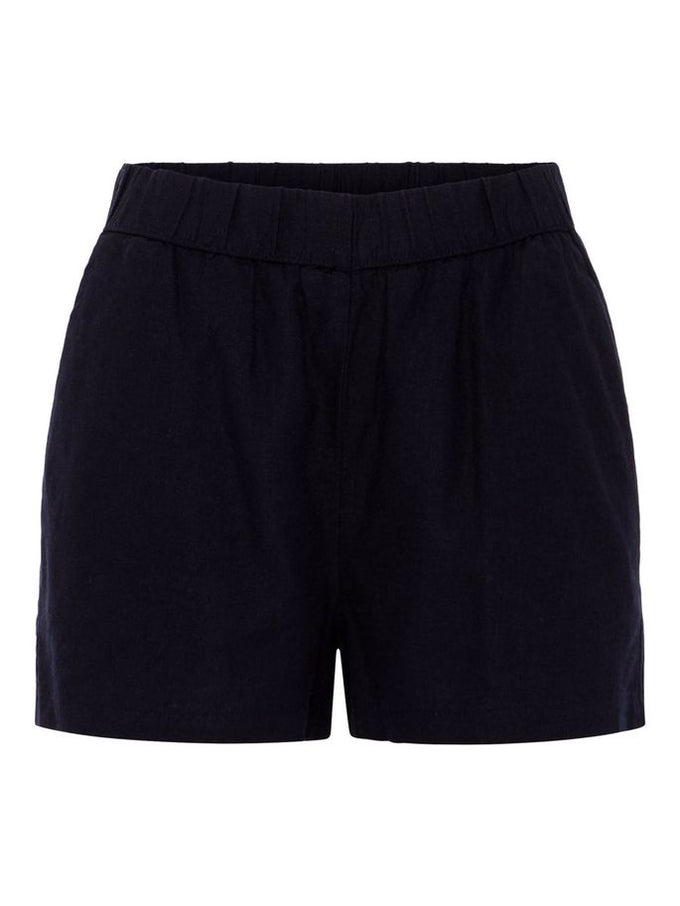 LINEN-BLEND SHORTS NIGHT SKY