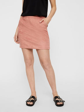 Faux Suede Short Skirt