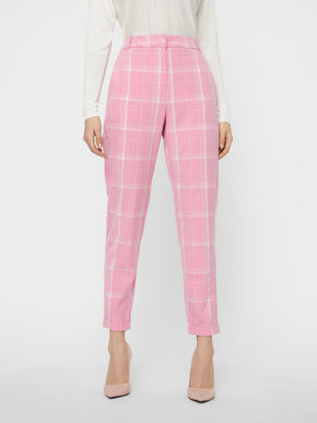 PINK CHECKERED DRESS PANTS