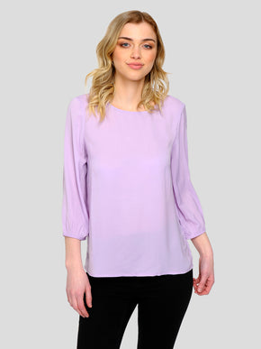 3/4 SLEEVE BLOUSE WITH DECORATIVE BUTTONS