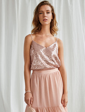 SEQUINED CAMI