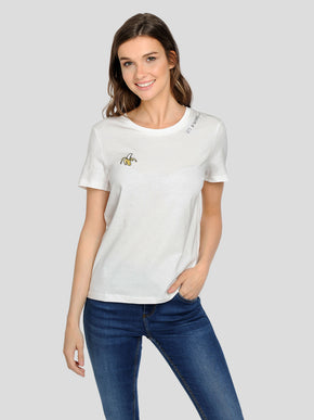 ORGANIC-COTTON EMBROIDERED T-SHIRT