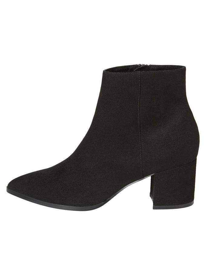 FAUX-SUEDE ANKLE BOOTS BLACK