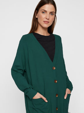 Button Cardigan With Pockets
