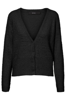POILU LONG SLEEVE V-NECK CARDIGAN