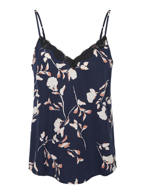 FINAL SALE - FLORAL CAMI WITH LACE