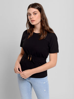 T-Shirt With Belt