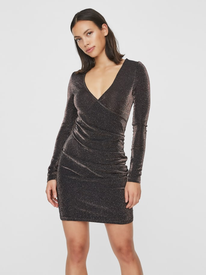 DENISE LONG SLEEVE SHORT DRESS