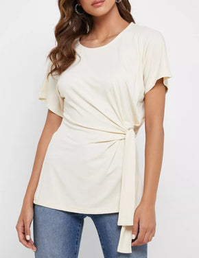 T-Shirt With Side Knot