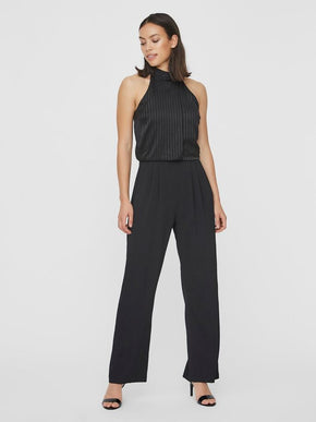 DORIA SLEEVELESS HALTER-NECK JUMPSUIT
