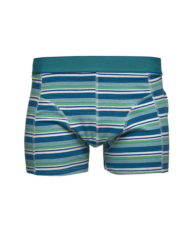 JJMULTICOLORED STRIPED BOXERS Aqua Green