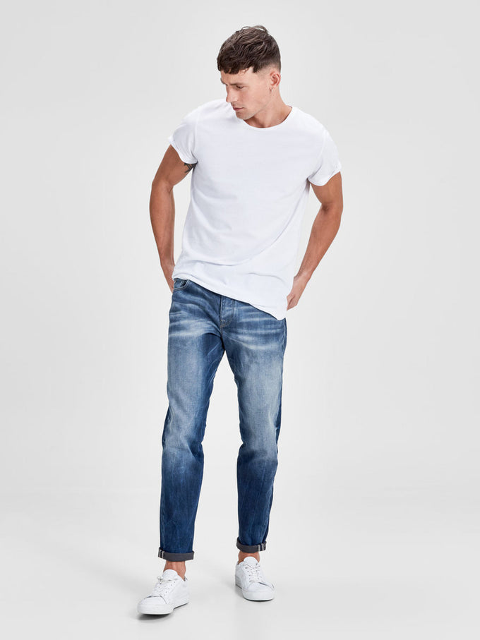 JJMIKE RON 254 JEANS Blue Denim