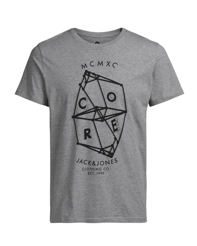 JJCOPLUTO T-SHIRT Light Grey Melange