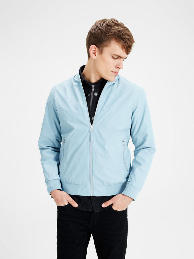 JJORPACIFIC BOMBER JACKET Stone Blue