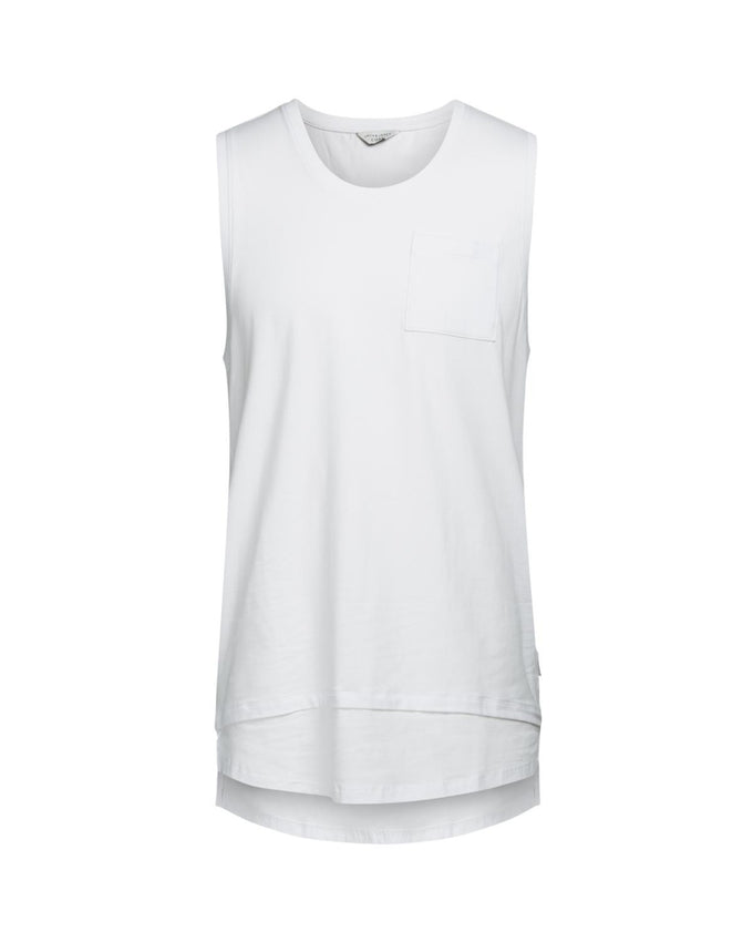 CAMISOLE À COUPE LONGUE À SUPERPOSITION BLANC