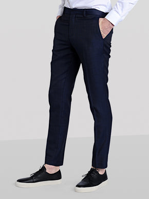 MICRO DOTS WOOL DRESS PANTS