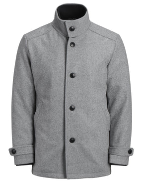 WOOL DOUBLE-COLLAR DRESS COAT