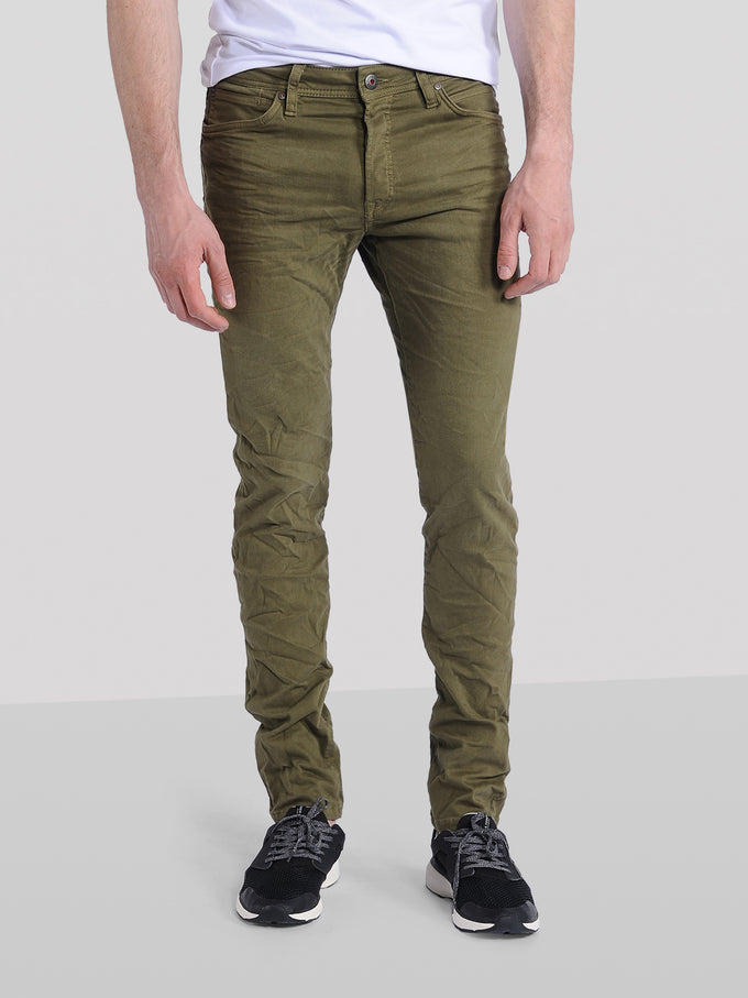 GLENN 360 INDIGO KNIT STRETCH OLIVE JEANS OLIVE NIGHT