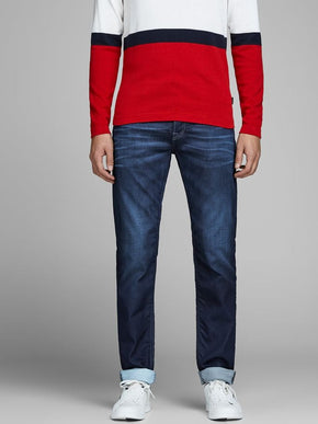 JEAN COUPE AMPLE EXTENSIBLE INDIGO KNIT MIKE 097