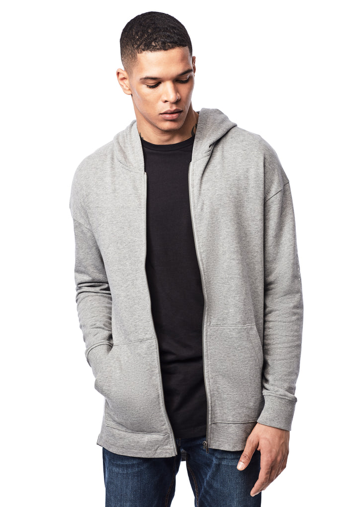 BEACH DAY EVERY DAY LIGHTWEIGHT HOODIE LIGHT GREY MELANGE