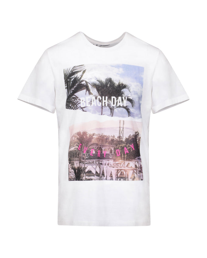 T-SHIRT À IMPRIMÉ BEACH DAY EVERY DAY T-SHIRT À IMPRIMÉ BEACH DAY EVERY DAY