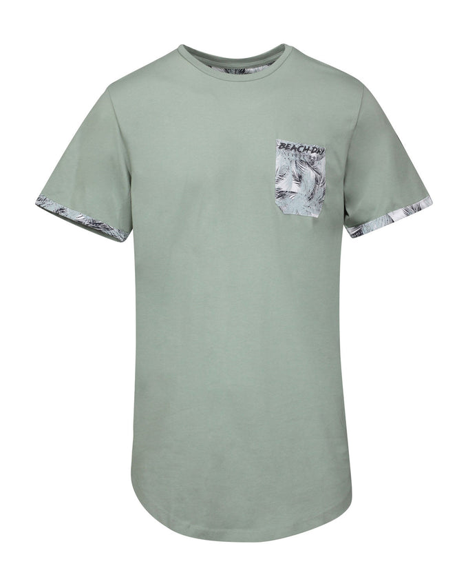 T-SHIRT À POCHE BEACH DAY EVERY DAY VERT