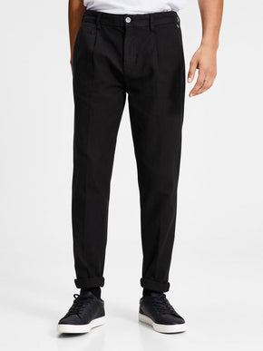 PANTALON CHINO ANTI-COUPE À MOTIF JACQUARD