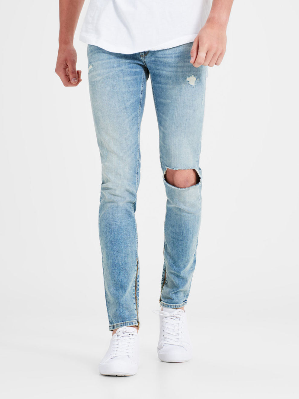 SKINNY FIT ZIPPED ANKLES LIAM 088 JEANS