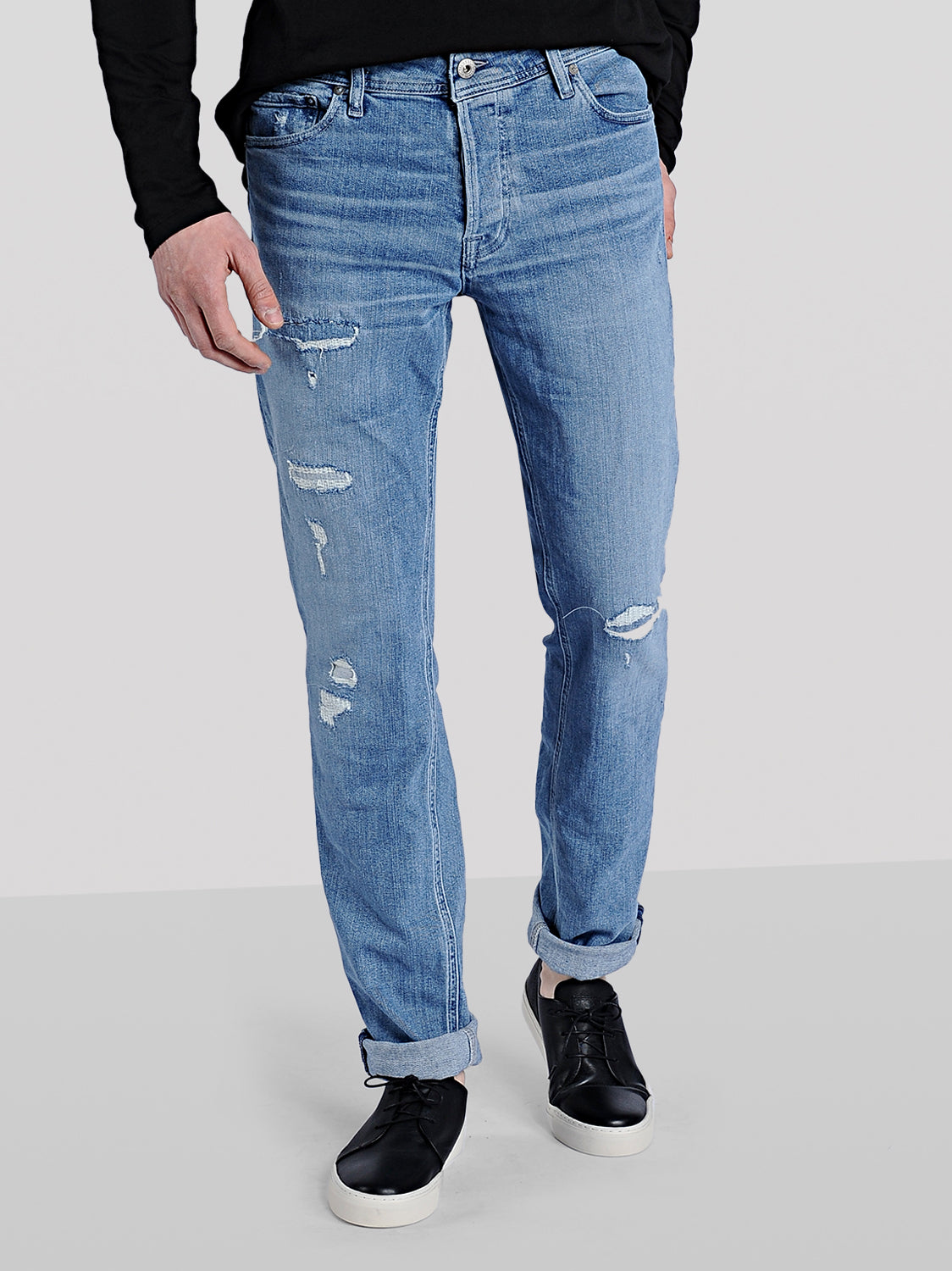 SLIM FIT TIM 177 JEANS WITH USED DETAILS