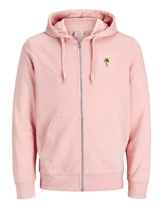 HOODIE WITH EMBROIDERED SYMBOL SILVER PINK