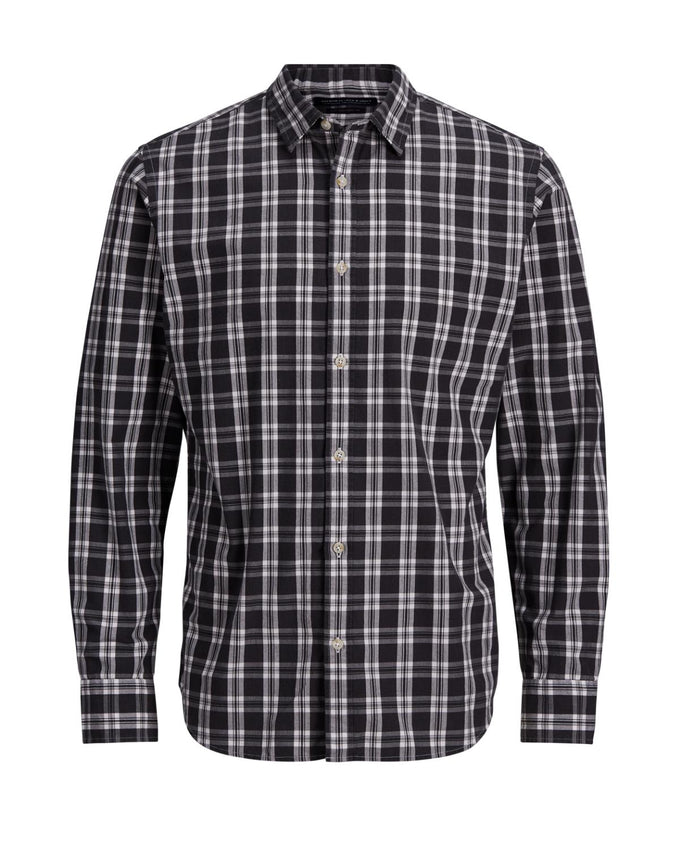 CHECKERED COMFORT FIT PREMIUM SHIRT CAVIAR