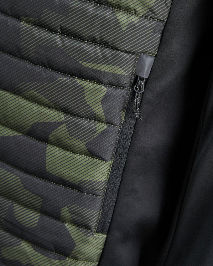 TRUEXCORE WINDPROOF QUILTED JACKET OLIVE NIGHT